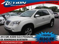 2012 GMC ACADIA 2WD SLE 2 8 PASSAGERS G. REMORQUAGE BLUETOOTH