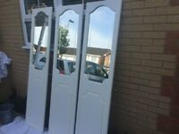 Mirrored Wardrobe Doors x 3 plus frame