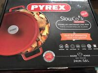 Pyrex slow cook induction cast iron dish