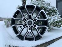 "20"" x 9.5 Hawke Drift alloy wheels and tyres (6x139) Suitable for most Ford Ranger models"