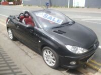 Peugeot 206 cc,1997 cc Convertible,Black/Red interior,clean inside and out,best of both worlds,66k