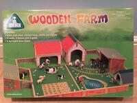 Wooden Farm Set with Tractors & Figures