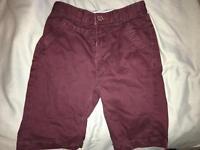 Boys burgundy shorts