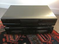 Technics CD deck and SONY double tape deck