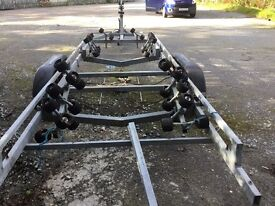 twin axel galvanised trailer