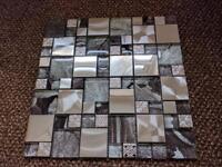 Metal and Glass Mosaic Tiles (RRP: £16.99 a sheet)