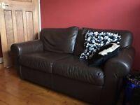 2 seater Ikea leather sofa