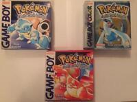 Gameboy advance Pokemon games
