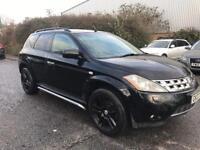 "2007 Nissan Murano v6 auto Petrol 4x4 62k black leather 19"" alloy wheels bargain cheap"