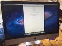 iMac 27 inch quad core i5 4gb ram 2tb hd
