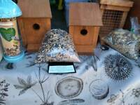 Bird boxes and squirrel feeders