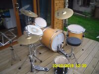4 piece Arbiter drum kit with symbols,used, with very nice Roland boxes