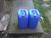 Plastic, liquid, drums, water, containers, jars, 20 L x2