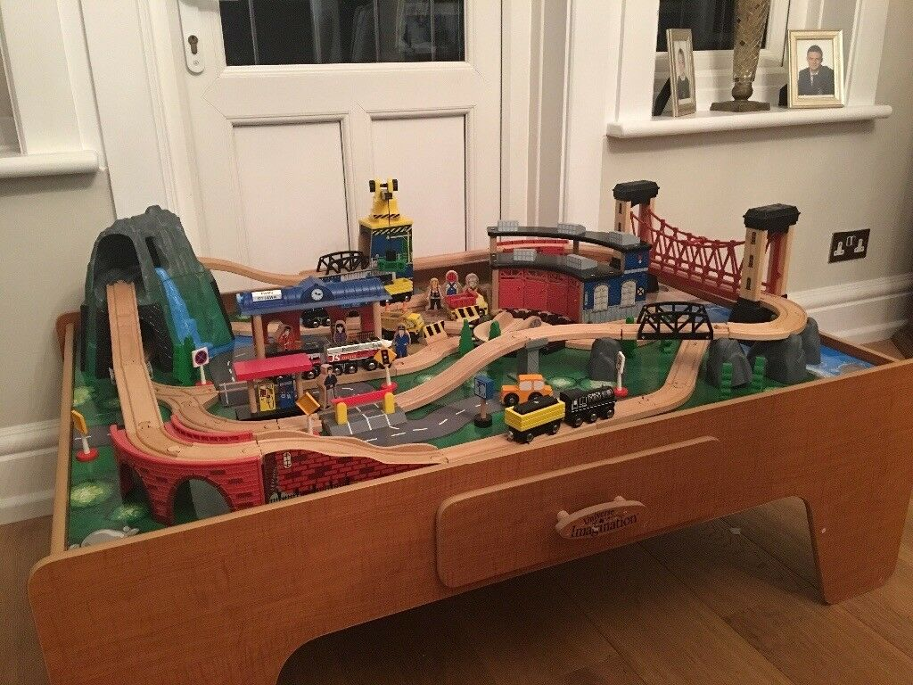 Universe of Imagination Train Table Set with over 100 pieces
