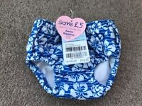 Brand new with tags boys swim nappy 3-6 months