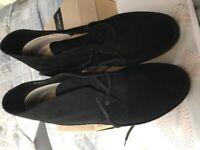 Clarks Desert Boots, Black Suede