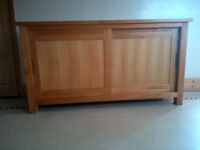 SOLID WOOD SIDEBOARD AND MATCHING DVD CD UNIT