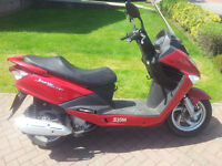 Sym Joyride 200 evo scooter with MOT and full service history, 171cc, and free delivery