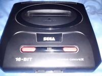 Sega Mega drive 2, 6 Boxed Games,3 Controllers, All required and original cables.