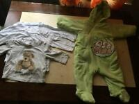Baby PramSuit/ Snowsuit + tshirts. 0-3 months