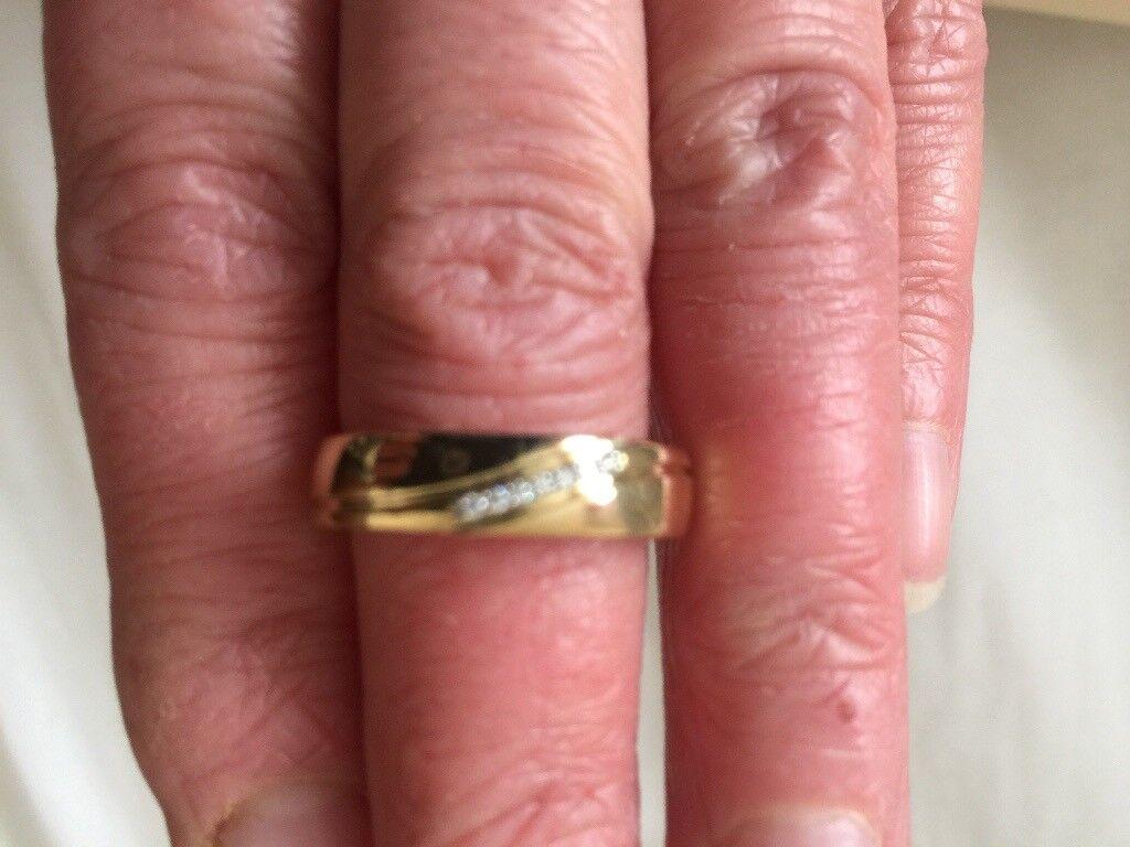 Men\'s diamond wedding ring size S | in Grantham, Lincolnshire | Gumtree