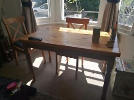 Solid wood dining table £20