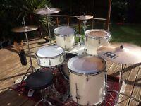 Fully Custom Pearl Forum Drum Kit + Meinl MCS Cymbals!