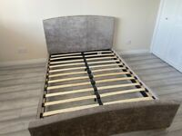 Mink double bed frame with base
