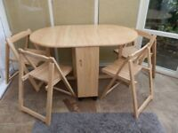 Foldaway Dining Table and 4 Chairs