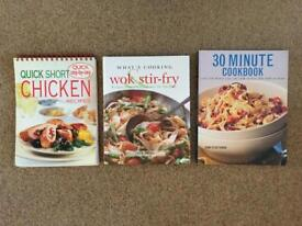 Cook books x 3