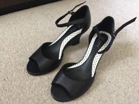 M&S black wedge heel - size 3