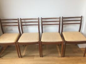 4 G Plan Teak Dining Chairs