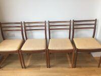 4 G Plan Teak Dining Chairs