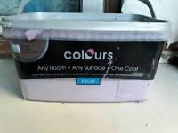 1/2 tub of purple paint