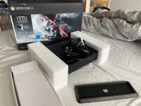 Xbox one x console with stand