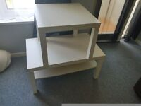 Ikea white coffee and side table