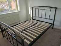 Metal double bed frams