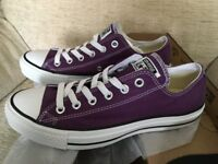 New – CONVERSE TRAINERS – A/S SEAS OX / Low Top – Size 6 – colour: PURPLE
