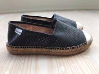Leather Viscata espadrilles, brand new, size 3UK/36EU