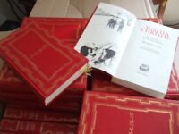 The complete collection of Agatha Christie novels - red leather bound
