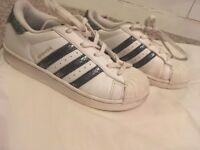 Adidas superstar trainers size13 girls
