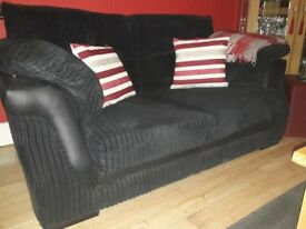 2 seater sofa in black