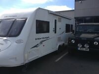 Fleetwood Herritage 640CB, 4 Berth,Fixed Bed, Twin Axel, 2008