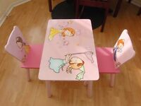 Kids pink table & chair set from Smyths RRP £29.99