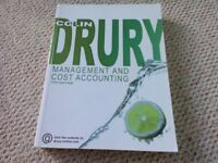Management and Cost Accounting by Colin Drury excellent condition