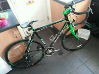 Black & Green Road bike.