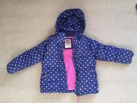 Girls Mini Boden padded coat - age 5 to 6