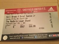 KEL Brooks v Errol spence jr boxing tickets