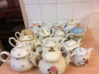 China tea pots, cups and plates