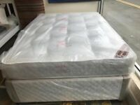 NEW. Single, Small Double, Double. King Size and Super King Divan Beds with Semi-Ortho Mattresses.